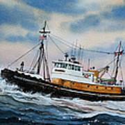 Tugboat Island Commander Poster