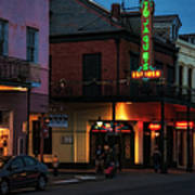 Tujagues At Night In New Orleans Poster