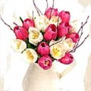 Tulip Blooms Poster by Debra  Miller
