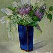 Tulips And Lilacs Poster