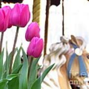 Tulips Poster by Ece Erduran