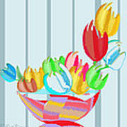 Tulips In A Bowl Poster