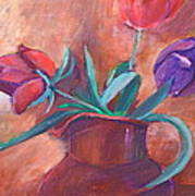 Tulips In Pitcher Poster