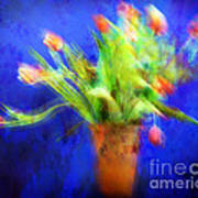 Tulips In The Blue Poster