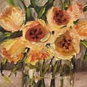 Tulips In Yellow By Alabama Artist Angela Sullivan Poster