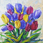 Tulips Time Love The Spring By Prankearts Poster