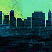 Tulsa City Skyline Poster