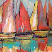 Tuna Boats Poster by Kip Decker