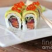 Tuna Sushi With Caviar  Poster