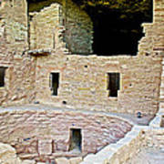 Tunnel Opening In Kiva Of Spruce Tree House On Chapin Mesa In Mesa Verde National Park-colorado  Poster