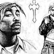 Tupac Shakur Long Drawing Art Poster Poster