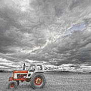 Turbo Tractor Superman Country Evening Skies Poster