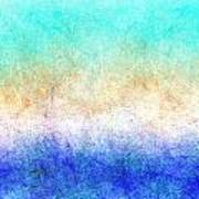 Turbulence Ocean Storm At Sunset Poster
