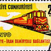 Turkey Iran Railroad Poster