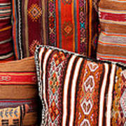 Turkish Cushions 01 Poster by Rick Piper Photography