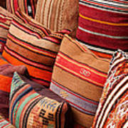 Turkish Cushions 03 Poster by Rick Piper Photography