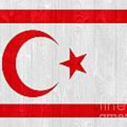 Turkish Republic Of Northern Cyprus Flag Poster