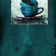 Turquoise Cups Poster