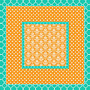 Turquoise Pumpkin Abstract Poster
