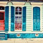 Turquoise Shutters Poster