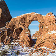 Turret Arch In Winter Poster