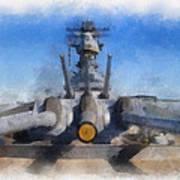 Turrets 1 And 2 Uss Iowa Battleship Photo Art 01 Poster