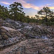 Turtle Rocks Atop Petit Jean Mountain - Arkansas Poster