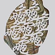 Turtle Shell's Inscription Poster by Ousama Lazkani