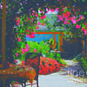 Tuscan Courtyard Poster