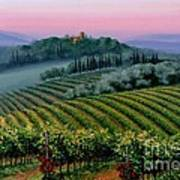 Tuscan Dusk Poster by Michael Swanson