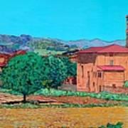 Tuscan Farm Village Poster