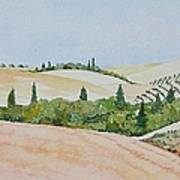 Tuscan Hillside One Poster