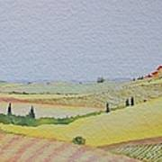 Tuscan Hillside Three Poster