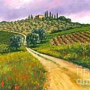 Tuscan Road Poster by Michael Swanson