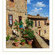 Tuscan Terrace Poster Poster