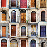 Tuscan Wooden Doors, Italy Poster