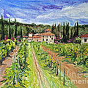 Tuscany Afternoon Poster