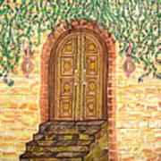 Tuscany Door Poster