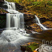 Tuscarora Falls In Fall Poster