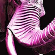 Tusk 2 - Pink Elephant Art Poster
