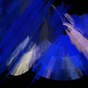 Tutu Stage Left Blue Abstract Poster