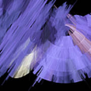 Tutu Stage Left Periwinkle Abstract Poster by Andee Design