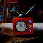 Tv Clock Poster