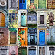 Twenty Four French Doors Collage Poster