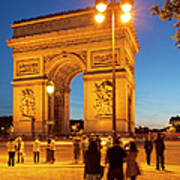 Twilight At Arc De Triomphe Poster