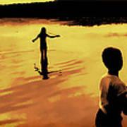 Twilight Fishing Poster