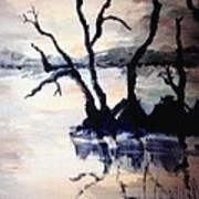Twilight Lake Sunset Poster