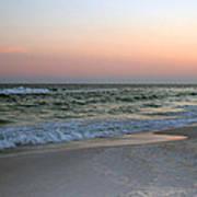 Twilight Ocean Beach Poster