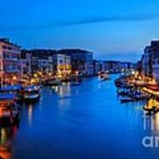 Twilight On The Grand Canal Poster