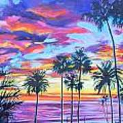 Twilight Palms Poster